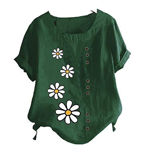 NOBRAND - Camiseta de verano con estampado de margaritas