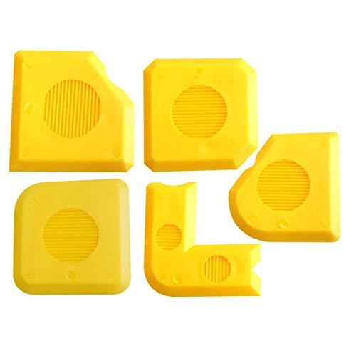 Fugenglätter Silikon Set Fugen ASS PLUS | 18 verschiedene Fugenformen | Silikon Abzieher | Fugenkratzer Ergänzung | Idealer Silikonentferner