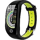 HAOYF Fitness Tracker GPS Aktivitäts Tracker, IP68 wasserdichte Smartwatch Mit Herzfrequenz Blutdruck Sauerstoffmonitor Schlafmonitor Schrittzähler Kalorienzähler Für Frauen Männer Kinder,Grün