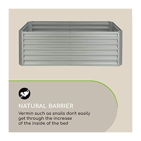 Blumfeldt nova high grow garden bed: raised growing bed, material: wpc with uv, rust and frost protection, wood look… 9 weatherproof: sturdy frame construction lets this garden weather any storm. The bed is made of steel corrugated iron and is protected against weather with a special 120 g / m² zinc-aluminium weather-shield-coating. Fast installation: the installation of the blumfeldt raised bed is straightforward and fast. Versatile: tasty, fresh and local: with this raised garden bed you can grow a variety of fruits and vegetables.