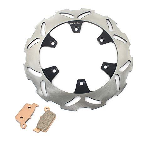 TARAZON Moto Rotor Disco de Freno Trasero y Pastillas para Kawasaki KX 125 250 KX125 KX250 1995-02 KX500 96-04