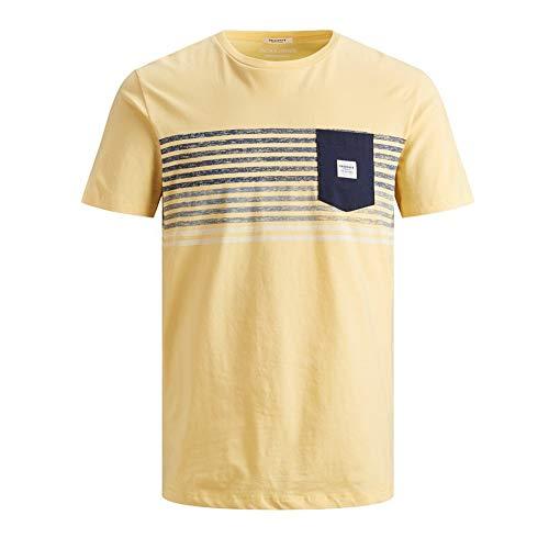 Camiseta Jack/&Jones Hombre Blanco 12161385 JOMIRROR TTEE LS Crew Neck FST Cloud Dancer REG