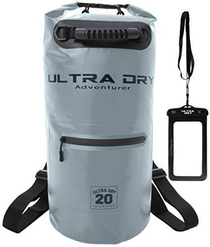 Dry Bag, Wasserdichte Tasche, Rucksack, Sack mit Handy-Trockentasche und langem, verstellbarem Schultergurt, ideal für Kajakfahren/ Bootfahren/ Kanufahren/ Rafting/Schwimmen