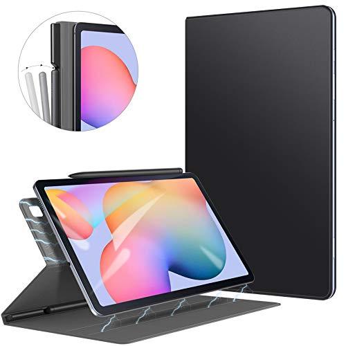 ZtotopCase Hülle für Samsung Galaxy Tab S6 Lite,Ultra dünn Smart Magnetisches Abdeckung Schutzhülle mit Stifthalter, Automatischem Schlaf/Aufwach,für Samsung S6 Lite 10.4 Zoll 2020 Tablette, Schwarz