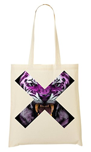 Run Away | Dangerous X | Tiger Head | Animals Collection | Nice To | Super | Cool T Shirt | Popular Canines | Crazy Eyes | Scary Creature Tragetasche Einkaufstasche