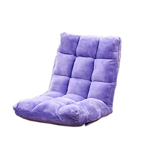 Lazy Couch Tatami Bean Bag Single Fabric Sofa Bedroom Bay Window Comfortable Foldable Washable Chair Medium Size Large Size (Color : Light purple, Size : M)