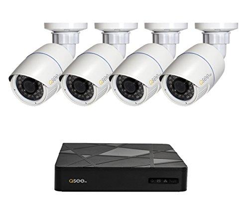 Q-See QT868-4BC-2 - Disco Duro de 2 TB NVR de 8 Canales con cámara Bala de 1080p, Color Negro