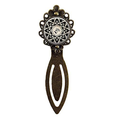 Marcapáginas hecho a mano, joyas de yoga, símbolo de Om, budismo Zen, meditación mandala, regalos para ella