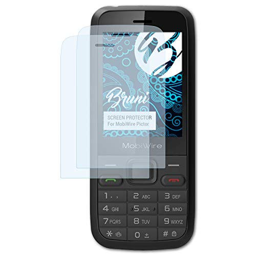 Bruni Schutzfolie kompatibel mit MobiWire Pictor Folie, glasklare Bildschirmschutzfolie (2X)