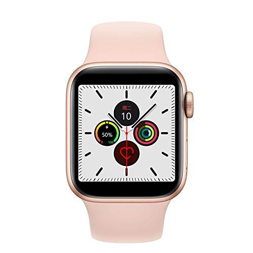 GANG Smart Watch, 1,54 Pulgadas Pantalla Táctil Completa Llamada Paso Contador Bluetooth Music Mensaje Inteligente Mensaje de Llamada Recordatorio Moda/Rosado
