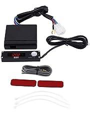 Qiilu Temporizador turbo para automóvil, Dispositivo temporizador turbo automático universal Retardador de tiempo de estacionamiento LED digital 41001-AK009
