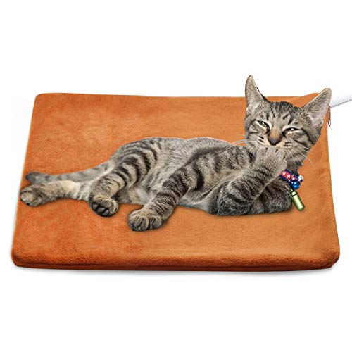 MARUNDA Pet Heating Pad,Cat Dog Electric Pet Heating Pad Indoor Waterproof, Constant Temperature, Chew Resistant Steel Cord