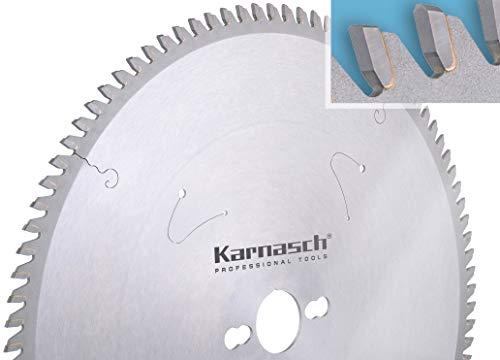 KARNASCH 111430120010 Hojas de Sierra Circular de Metal Duro, Formateado, Plásticos Duros, Materiales Abrasivos, Corte Final, Sección Delgada, 120mm