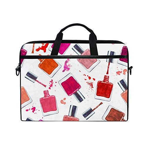 BEITUOLA 15-15.4 Zoll Laptop Taschen,Nahtloses Aquarell-Muster Farbiger Nagellack,Verschiedene...