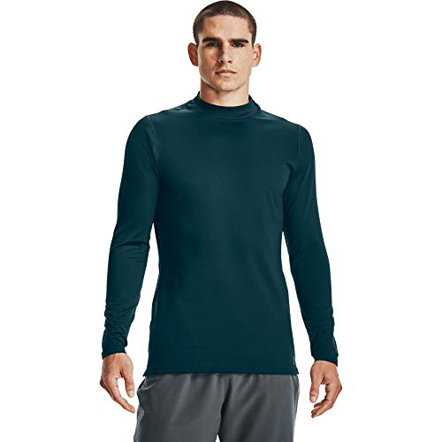 Under Armour Men's ColdGear Armour Compression Mock Long-Sleeve T-Shirt , Dark Cyan (463)/Black , XX-Large