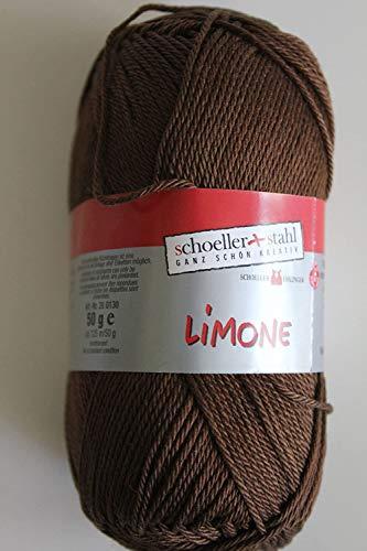 Limone Schoeller + Stahl 100 % Baumwolle 50 g Farbe 084-nuss
