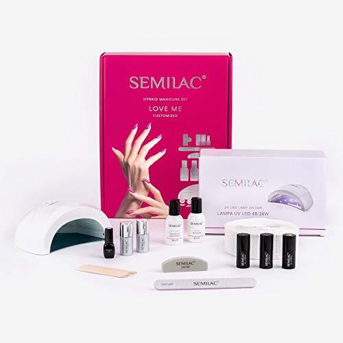 Semilac Starter-Set Love Me 24/48 W LED UV-Nagellampe Maniküre Nageltrockner