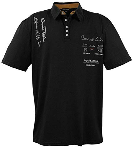 Lavecchia Herren Business Freizeit Poloshirt LV-610 Schwarz Gr. 4XL