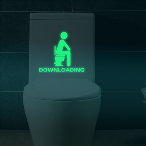 Vi.yo Kreatives WC-Sitz Abziehbild Abnehmbares leuchtendes Aufkleber Badezimmer Leuchtstoffwand Aufkleber (Downloading)