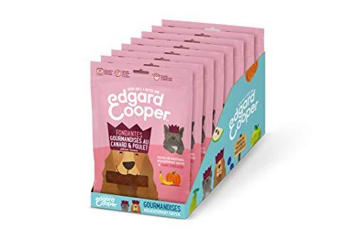Edgard & Cooper Friandise Naturelle Sans Cereale, récompense éducation pour petit grand chien chiot, 1.2kg Lot de 8x150g Snack Gourmandise riche savoureuse (Canard & Poulet - Potiron - Banane)