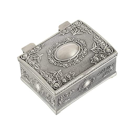 YUTRD ZCJUX Jewelry Box Vintage Joyería Caja Anillo Pendientes Collar Pulsera Pulsera Estuche de Pearl Caja de Almacenamiento de Regalos Día de San Valentín Presente