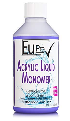 Acrylic Nail Liquid Monomer For Fake Salon Nails 250ml requires powder to work