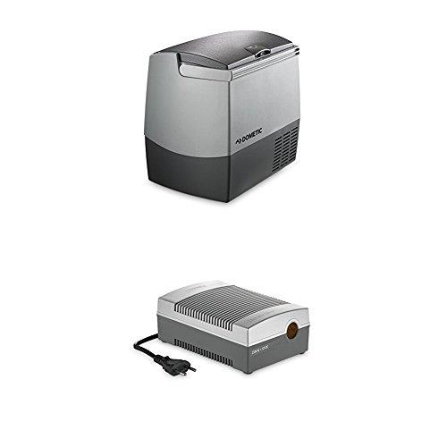 Dometic Waeco CoolFreeze CDF 18 - tragbare elektrische Kompressor-Kühlbox/Gefrierbox mit Batteriewächter, 18 Liter, 12/24 V für Auto, Lkw oder Boot + CoolPower EPS817 Netzadapter, 230 V 12 V