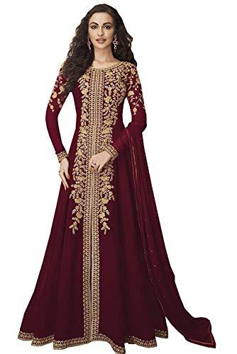 JIVRAJ FASHION Schöne Party tragen Anarkali Stickerei Arbeit Kleid ungenähte Rezeption tragen indische Stil Frau schwere Foux Georgette Salwar...