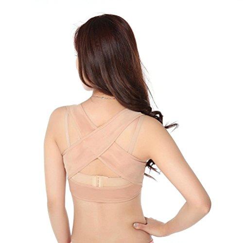 ROSENICE Faja para Espalda Corrector de Postura Espalda Mujer Soporte de Espalda Ajustable Talla S