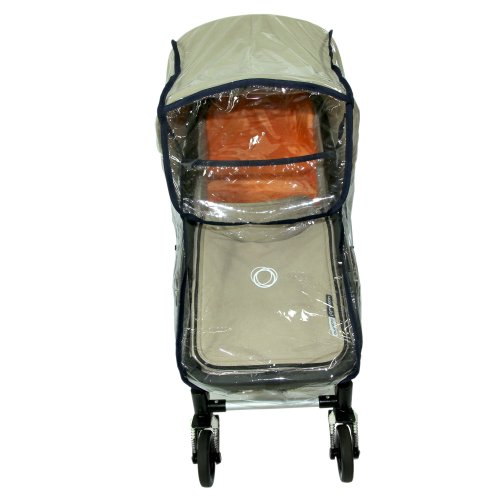 NEW BABY CHILD PRAM CARRY COT BASSINET RAIN COVER fits BUGABOO (black)