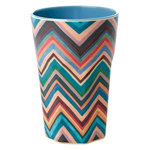 Rice - Melamin Becher - Latte Cup - Zig Zag Print - 400 ml