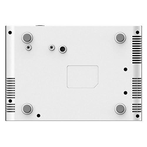Diyeeni Mini Proyector Portátil Digital,1280P,16770K Colores,tecnología de Proyección LCD para Cine En Casa/Aula Multimedia/Sala de Reuniones,Soporta USB Dual/HDMI/USB/AV/VGA (EU Plug)