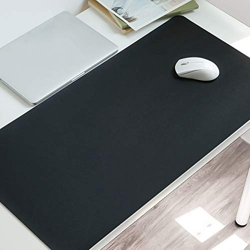 Non Slip Desk Pad,Waterproof Have Leather Desk Table Protector,Ultra Thin Large Mouse Pad Easy Clean Laptop Desk Writing Mat for Office Work Home Decor-Black. 100x60cm(39x24inch)