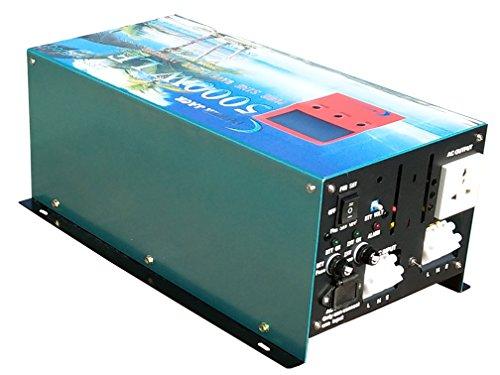 Versión mejorada Inverter Converter 5000w/20000w 12V Inversor Onda Pura to AC 230V,LCD,Cargador 80A Convertidor 12v
