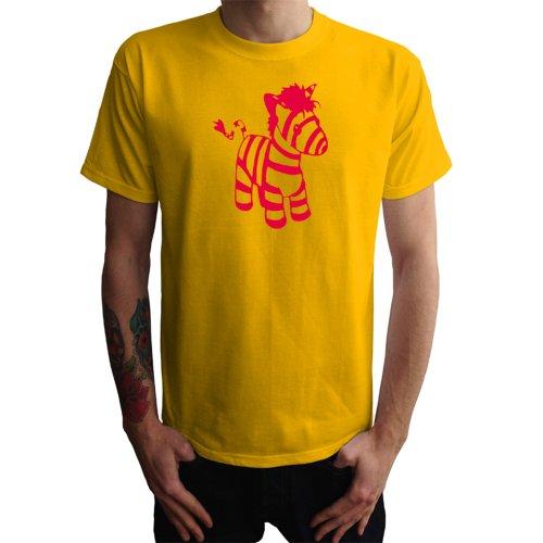 Zebra Herren T-Shirt, gelb, L