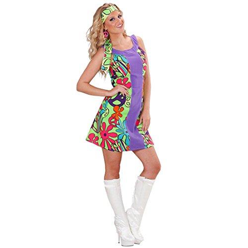 70er hippie para disfraz de niña hippie años hippie de disfraces de carnaval de flores GR m 38/40