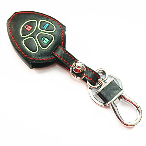 WFMJ 1x Blue Silicone Key Cover 1x Blue Keyring 4 Buttons Smart Remote Key Holder Cover Chain Case Fob 2011 2012 2013 Kia Optima Rio Forte Koup Soul Sportage