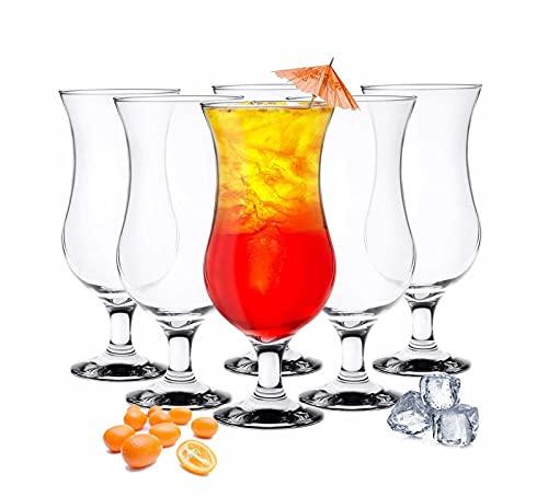 Sendez 6 Stück Cocktailgläser 480ml Longdrinkgläser Trinkglas Trinkgläser Cocktailglas