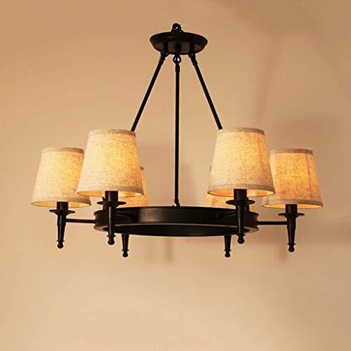 Smeedijzeren kroonluchter, American Country woonkamer eetkamer slaapkamer, beddengoed 6 lampen