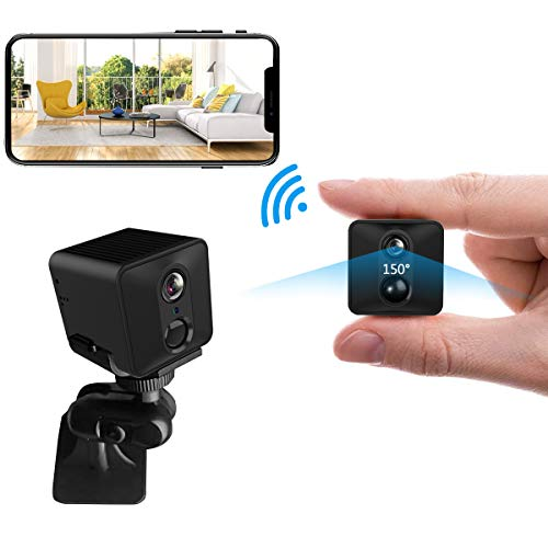 Mini Spy Hidden Camera - WiFi HD 1080P Camera PIR 50-Days Standby/Low Power Consumption Motion Detection Video Recorder Night Vision Security Small Cam (2400mAh, Black)
