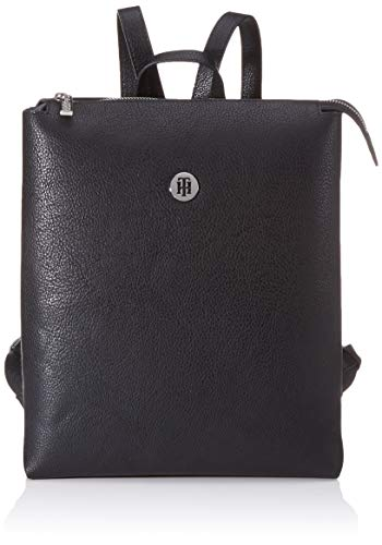 Tommy Hilfiger - Th Core Backpack, Mochilas Mujer, Negro (Black), 11.5x0.1x25.5 cm (W x H L)