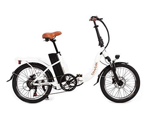 BIWBIK - Bicicletta elettrica Boston (Bianco, 12 Ah)