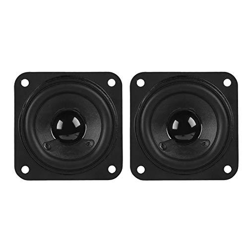 ASHATA 2PCS Lautsprecher Subwoofer, 2 Zoll 61mm Breitbandlautsprecher DIY,Deep Bass Sound Volle Frequenz Lautsprecher 8Ohm Dual Magnetische DIY Lautsprecher Schwarz
