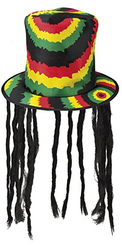 Boland 82013 Hut Rasta mit Dreadlocks, mens, One Size