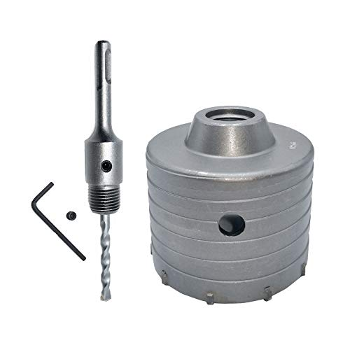 Haude 1 Set Concrete Hole Saw Electric Hollow Core Drill Bit 100mm Shank 110mm Cement Stone Wall Air Conditioner Alloy Blade