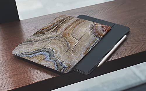 MEMETARO Funda para iPad (9,7 Pulgadas 2018/2017 Modelo), Mármol Surrealista Ónix Patrón de Superficie de Piedra con Detalles de la Naturaleza Smart Leather Stand Cover with Auto Wake/Sleep