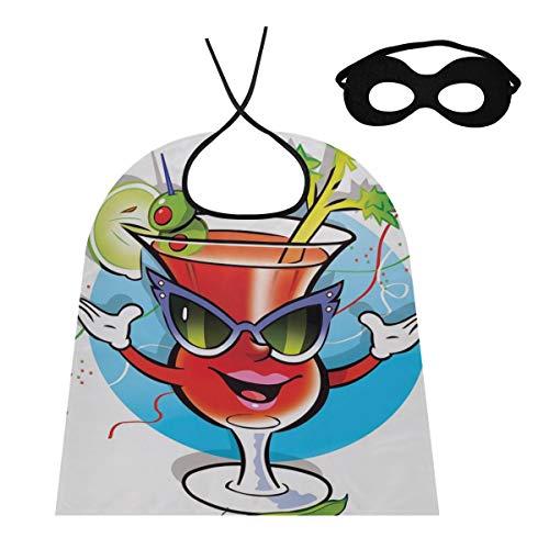 JINCAII Capa Capa Mujer Bloody Mary Bebida Alcohol Mara Copa Cctel Adulto Mago Capa Capa Cosplay para Nios / Adultos Disfraz para Fiesta De Halloween Festival Cumpleaos