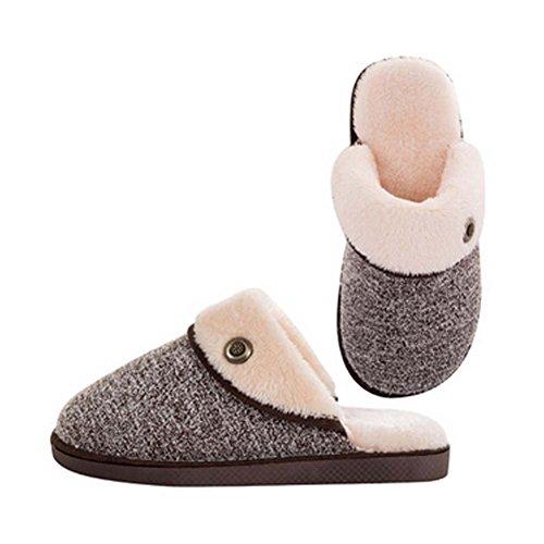 la mode pantoufles en coton hiver pantoufles quelques pantoufles chaud, Hommes, brun