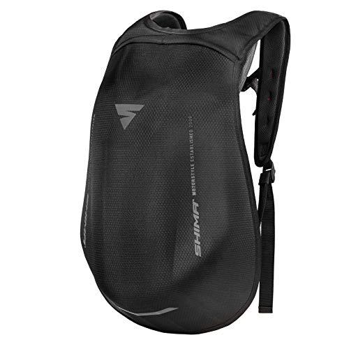 Shima AYRO Backpack - Mochila de moto aerodinámica ajustable de 24 litros, unisex, talla única, color negro, talla única