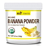 Organic Banana Fruit Powder, 150g (5.3 oz), 100% Raw, Vegan, No Fillers, Non-GMO